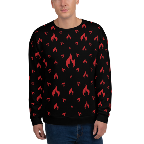 Fire BK Unisex Sweatshirt - LESS is MORE Collection