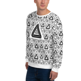 Impossible Triangles WT Unisex Sweatshirt - LESS is MORE Collection