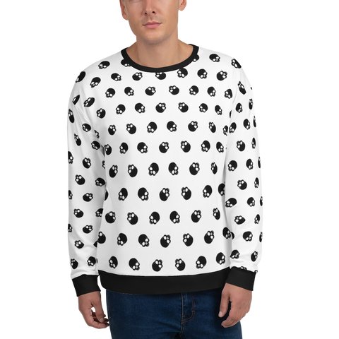 SKULL BK Sweatshirt - LESS is MORE Collection