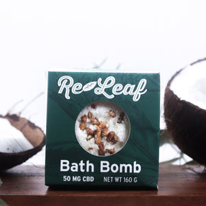 Hemp Oil Re-Leaf Bath Bomb 50mg CBD