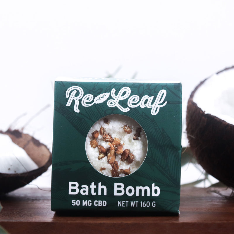 Hemp Oil Re-Leaf Bath Bomb 50mg