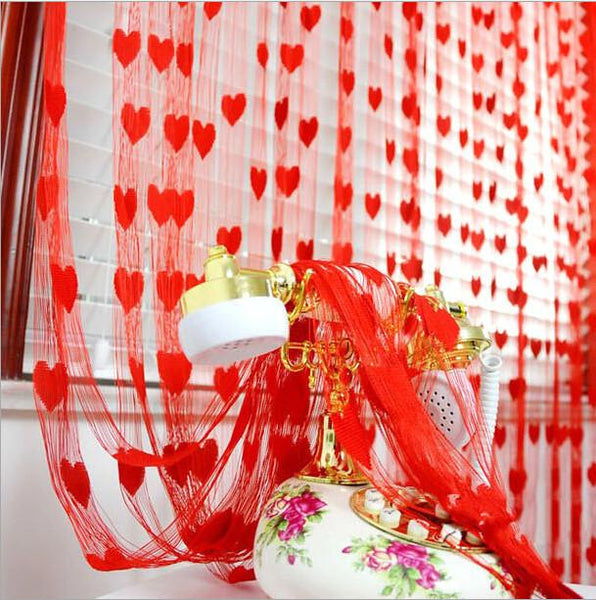 1*2 m Romantic Pursuit heart line door curtain wedding love curtain decorated living room off the entrance curtain