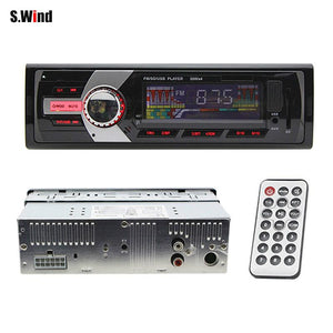 1 Din In-Dash Car Radio Stereo Player FM MP3 Player Support MP3 WMA USB SD AUX in with Remote Controller Car Electronics