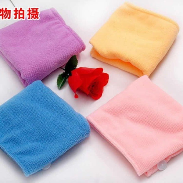 1 Pcs Womens Girls Lady's Magic Quick Dry Comfortale Bath Hair Drying Towel Head Wrap Hat Makeup Cosmetics Cap Bathing Tool