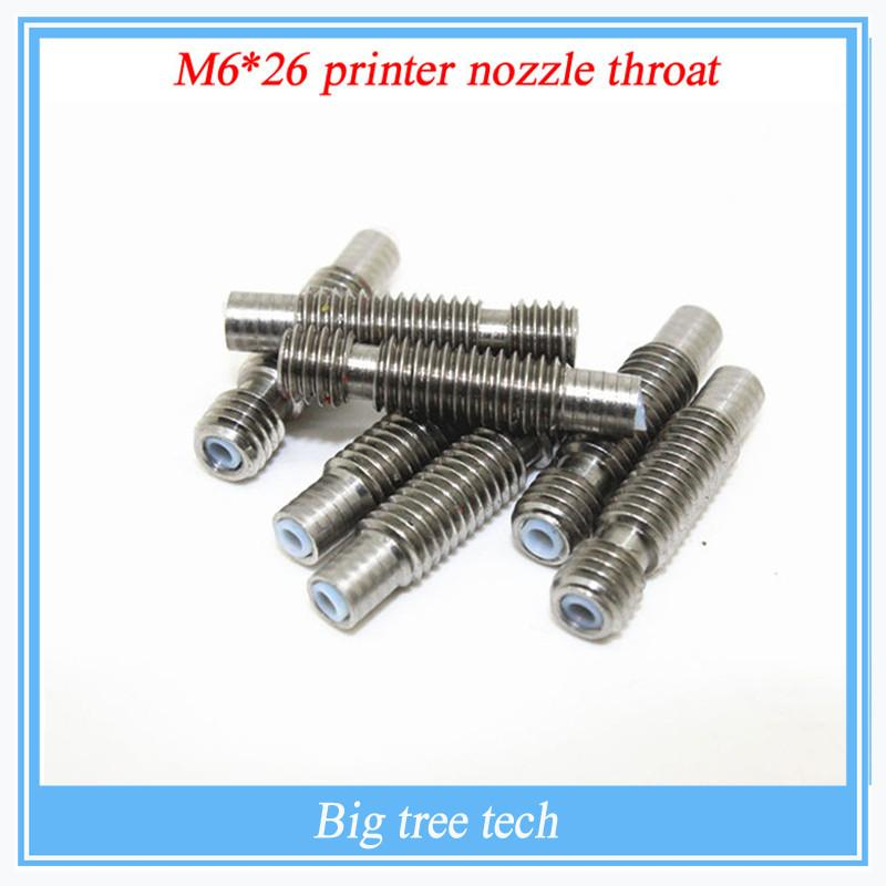 1 Pcs Reprap 3d Printer M626 Printer Nozzle Throat With Teflon Tube 1.75mm 3.0mm