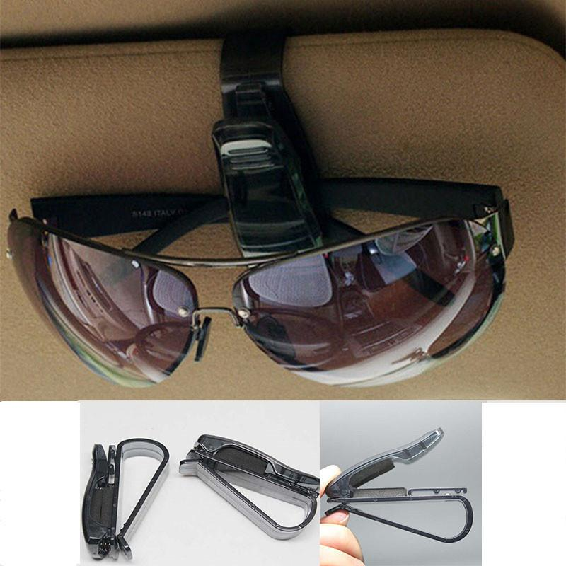 1 X Car Vehicle Accessory Sun Visor Sunglasses Eye Glasses Card Pen Holder Clip Black Color