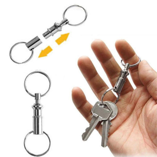 1 x Convenient Detachable Removable Pull Apart Quick Release Keychain Key Rings
