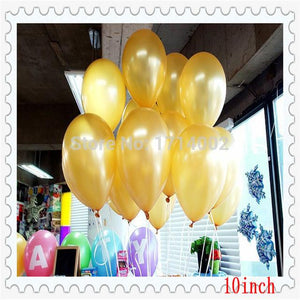 1.2g 100pcs lot Gold color helium Latex pearl balloon birthday wedding party decoration ballon