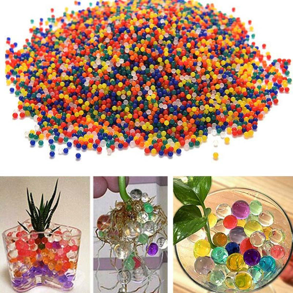 10000PCS 5000PCS Bag Home Decor Pearl Shaped Crystal Soil Water Beads Bio Gel Ball For Flower Weeding Mud Grow Magic Jelly Balls
