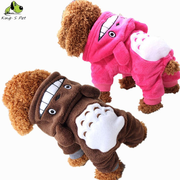 100% Cotton Pet Dog Costume Warm Winter Coat Cute Dogs Clothes Hoodie Jumpsuit Four Leg Clothing For Dogs Size XS-XXL