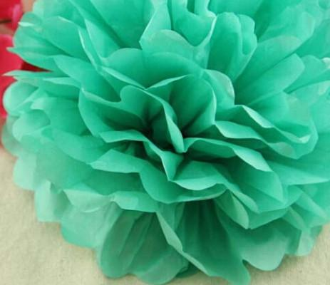 10cm=4 Inch Tissue Paper Flowers Pom Poms Balls Lanterns Party Decor For Wedding Decoration Multi Color Option