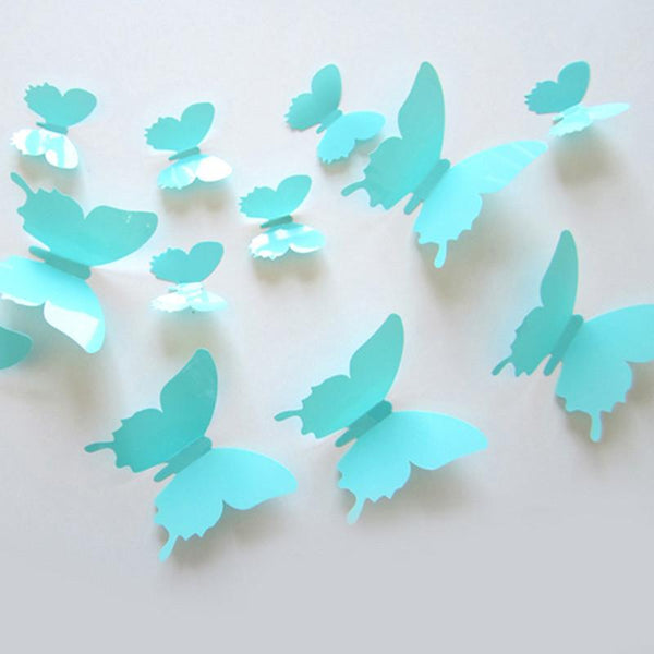 12pcs Lot Butterfly 3d Wall Stickers For Kids Room Bed Room Colorful Stickers Wall Decor Art