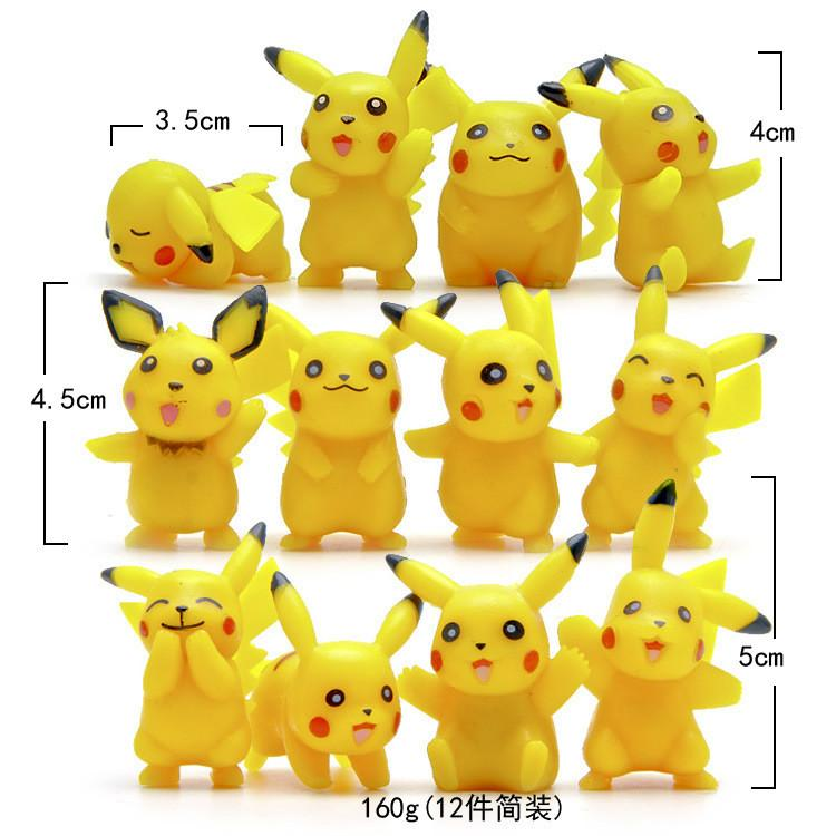 12pcs Lot Pikachu Figures Umbreon Espeon Glaceon Vaporeon Figure Toys 5cm Soft Stuffed Anime Lovely Cartoon Dolls