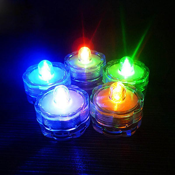 12pcs Super Bright Submersible Waterproof Mini LED Tea Light Candle Lights For Wedding Party Deocration Vase Light E2sho