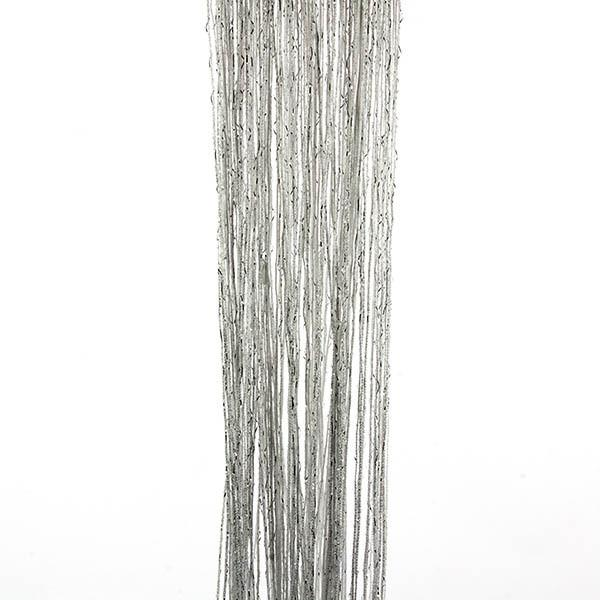 13 Colors Vogue Curtain Silver Silk Tassel String 200cm X 100cm Door Window Living Room Divider Curtain Valance Y1