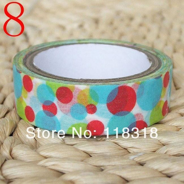 15 Mm*5 M Diy Scrapbooking Washi Paper Tapes Po Album Flowers Sticker Masking Tape Adhesive Tapes Birthday Wedding Decoration