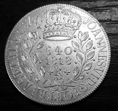 1818 R Brazil 640 Reis - Joao VI Silver Plated Coin