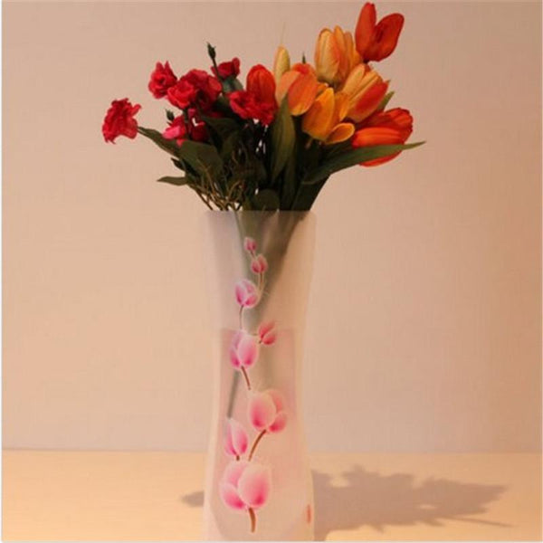 1pcs Eco-friendly Foldable Folding Flower Pvc Durable Vase Home Wedding Party Easy To Store 27 X 11.5cm
