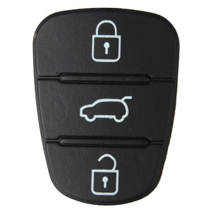 1pc 3 Button Remote Key Fob Case Rubber Pad For Hyundai I10 I20 I30 Flip Key