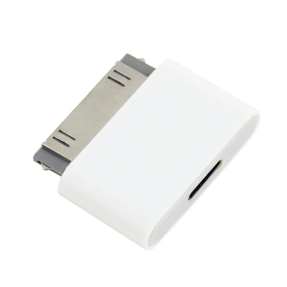 1pc 8 Pin Female to 30 Pin Male Adapter for iPhone 4S for iPad 3 for iPod Touch 4 8pin to 30pin adapter White