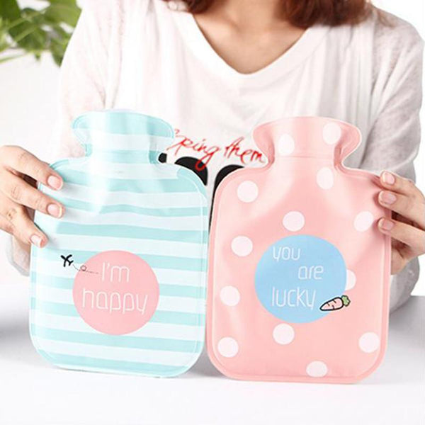1pc Cute Kawaii Water Bottle Water Filled Hand Warmer Water Injection Storage Bag Tools Feet Hand Warming Products