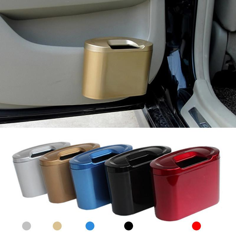 1PC Universal Car Durable Mini Trash Bin Vehicle Auto Car Garbage Dust Case Holder Box Bin Trash Rubbish Can
