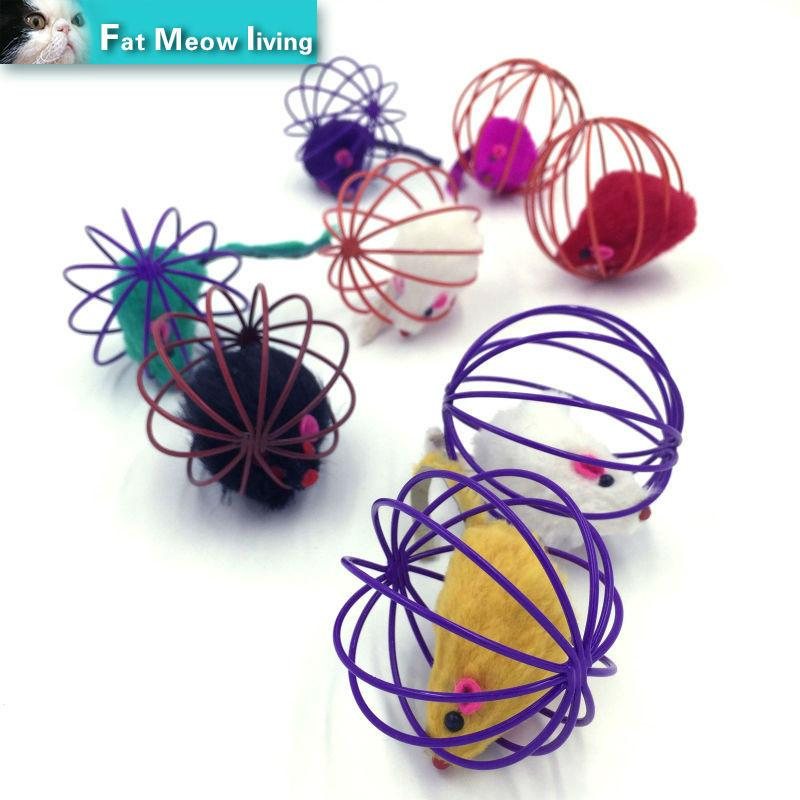 1pcs Cat toy interactive mouse sound ball animate Pet product toys For cats pet cat funny toys Colorful 60mm