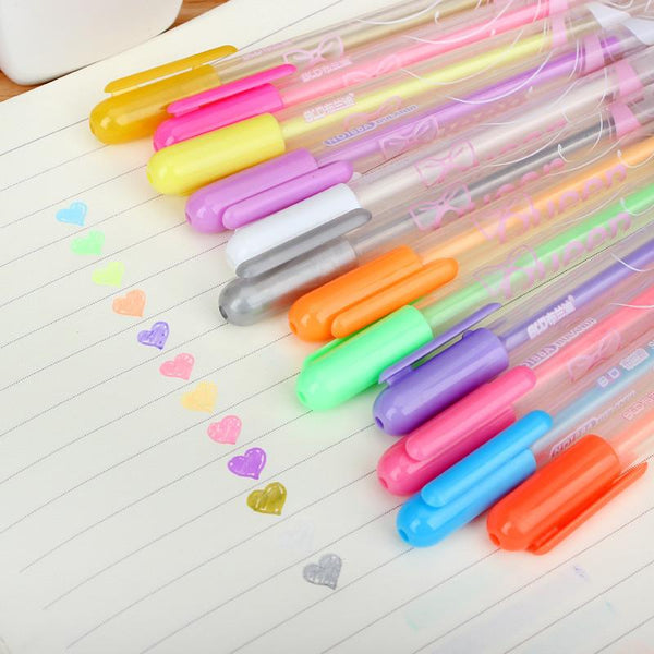 1pcs po album Scrapbook special write pen 12 color water chalk DIY Handmade write tools for children diary&Hand account decor