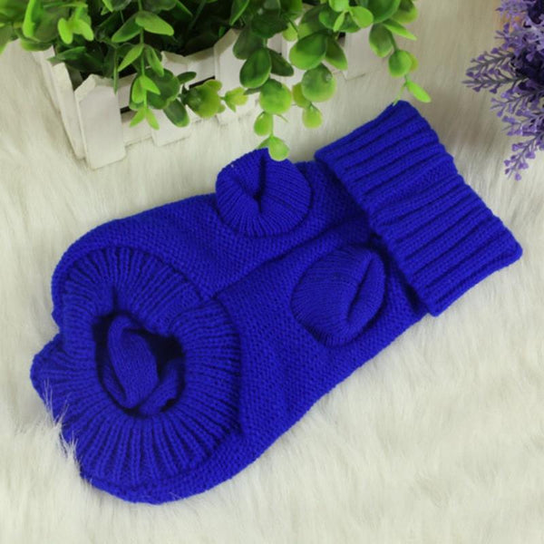 1PCS Winter Warm Pet Clothes Dog Cat Sweater KNIT Jumper Hoody Pet Puppy Coat Jacket Winter Warm Clothes Apperal
