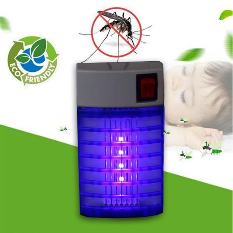 1W 110V 220V LED Electric mosquito killer lamp Mosquito Repellent Fly Bug Insect Killer Trap Night Lamp Zapper EU US Plug 12x7cm
