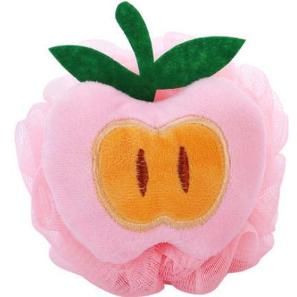 1x Color Fruit Shape Bath Ball Bathroom Bath Sponge Rubbing Towel Lovely Modelling Shower Bath Flowers Bath Brush