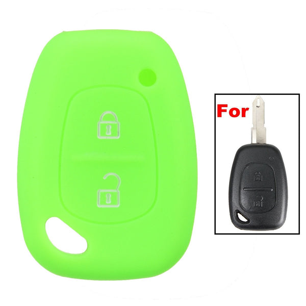2 Button Silicone Remote Key Fob Case Cover For Renault Kangoo Master Trafic