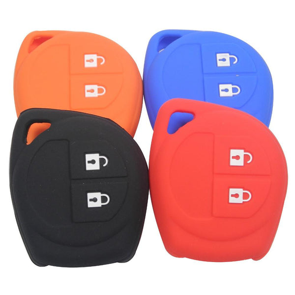 2 BUTTONS SILICONE KEY COVER FOR SUZUKI SX4 SWIFT LIANA VITARA JIMNY ALTO IGNIS ESTEEM REMOTE HOLDER FOB COVER SKIN ACCESSORIES