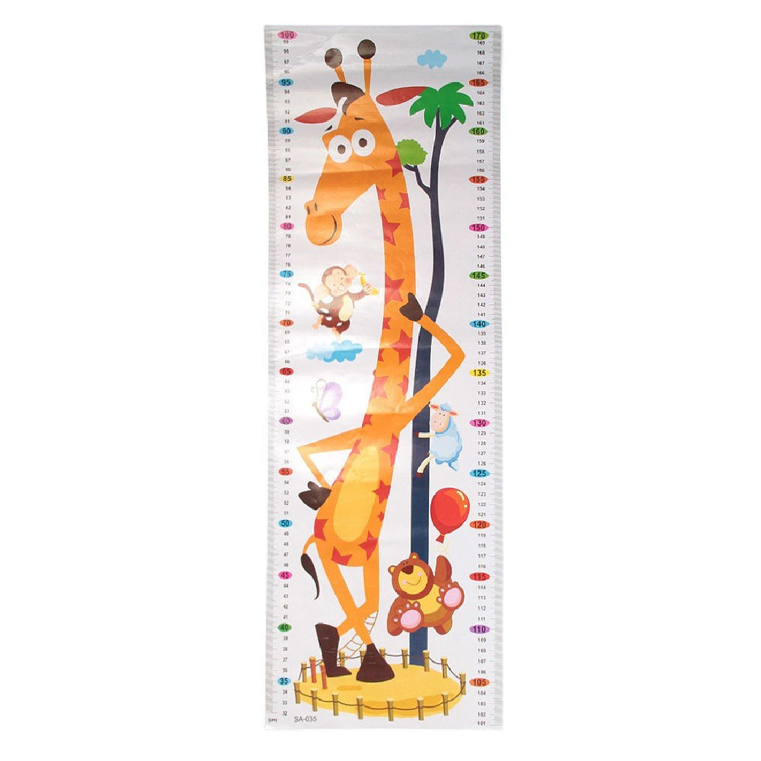 2015 Height Chart Growth Measure Decal Wall Sticker For Kids Art Mural Removable Cartoon Pvc For Decoration