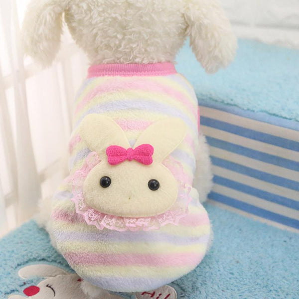 2016 Stylt Cartoon Small Dog Clothes Pet Supplies Soft Fleece Winter Warm Cup Dog Vests Born Puppy Clothing