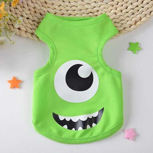 2016 Summer And Spring Cute Dog Vests Cartoon Small Animals Dog Vest Teddy Dog Puppy Clothes Pet Shirt Roupa Para Garment