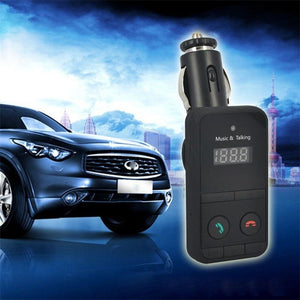 2016 Black Hands Wireless Car Kit MP3 Player FM Transmitter Modulator SD USB LCD Remote Controll Car Music Player