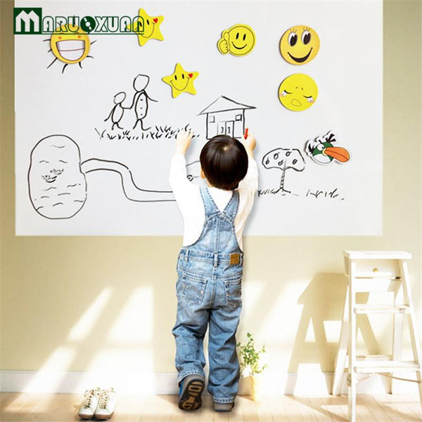 2016 60*200CM Wall Sticker White Board Large Size School Teaching Office Message Board Stickers Wall Stickers