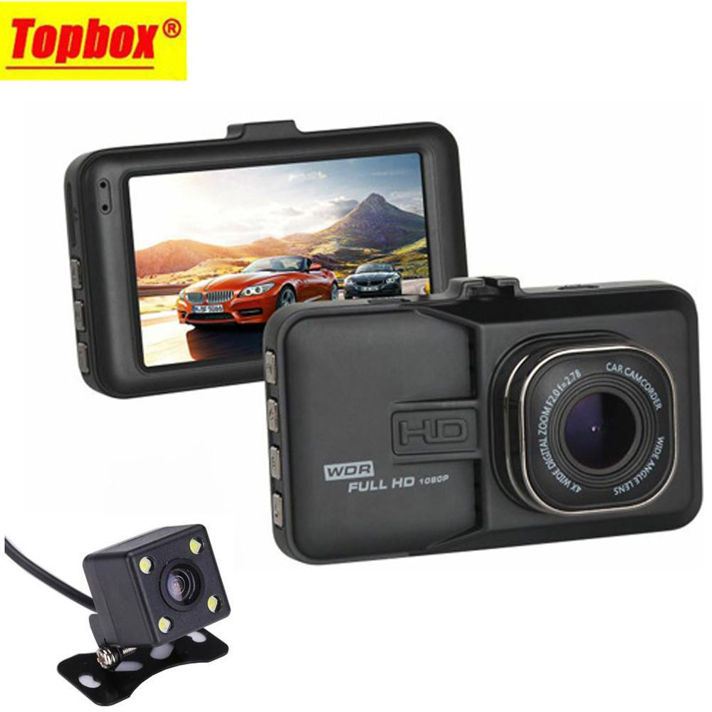 2016 Dual Lens Car DVR Cam Dashcam 1080P Full HD Video Registrator Recorder With Backup Rearview Camera G-Sensor WDR