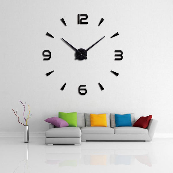 2016 wall clock quartz watch reloj de pared modern design large decorative clocks Europe acrylic stickers living room klok