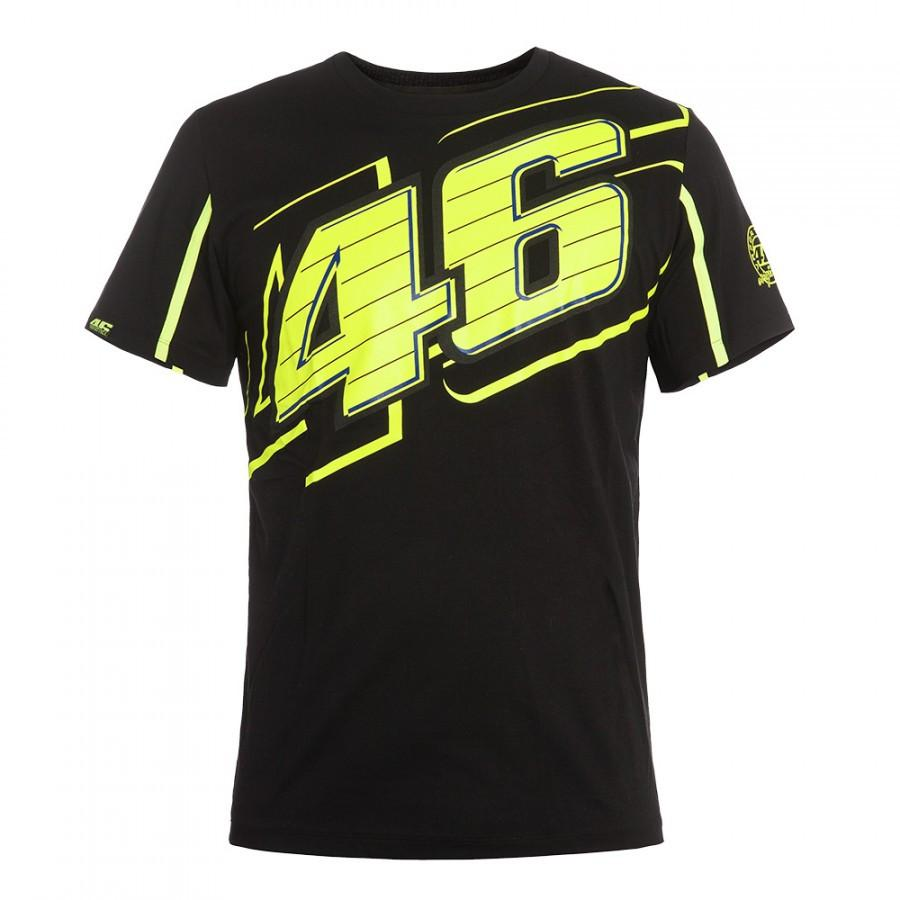 2016 Valentino Rossi VR46 Black T-Shirt The Doctor MotoGP 46 Motor Sports Shirt
