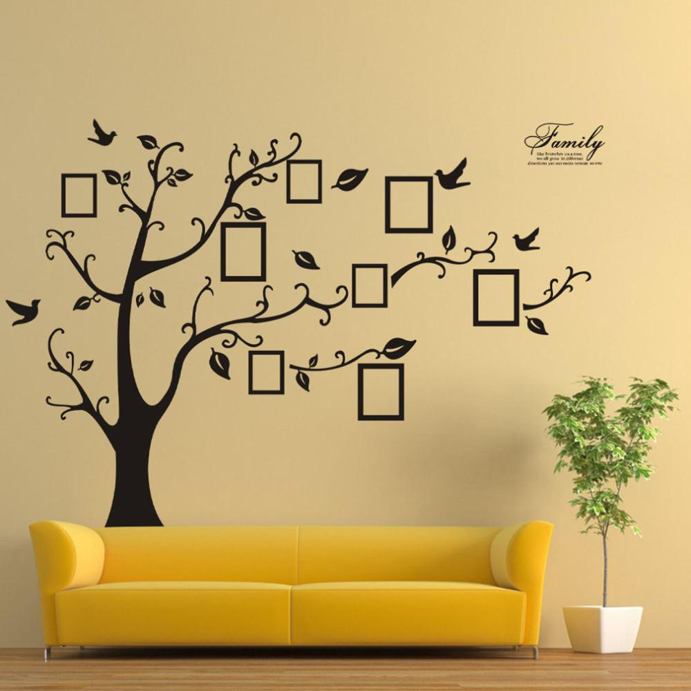 2016 Wall Stickers Home Decor Family Picture Po Frame Tree Wall Quote Art Stickers PVC Decals Home Decor wallpaper House