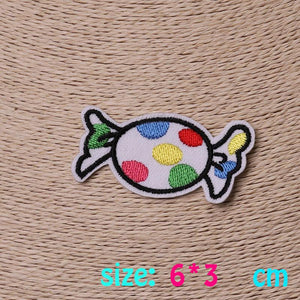 2016year 1PC colorful candy Iron On Embroidered Patch For Cloth Cartoon Badge Garment Appliques DIY Accessory
