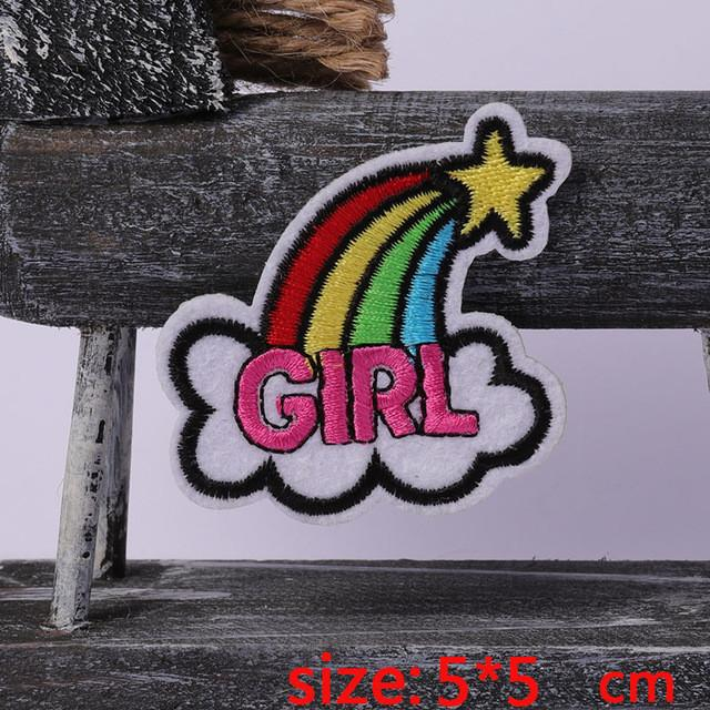 2016year 1PC girl hat Iron On Embroidered Patch For Cloth Cartoon Badge Garment Appliques DIY Accessory
