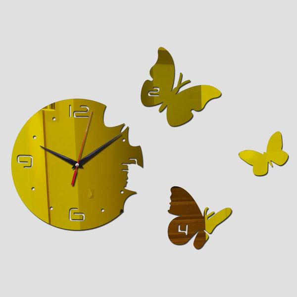 2017 Europe Acrylic 3d Sticker Wall Stickers Home Decor Poster Mirror Wall Clock Large Still Life Kitchen Butterfly Horse