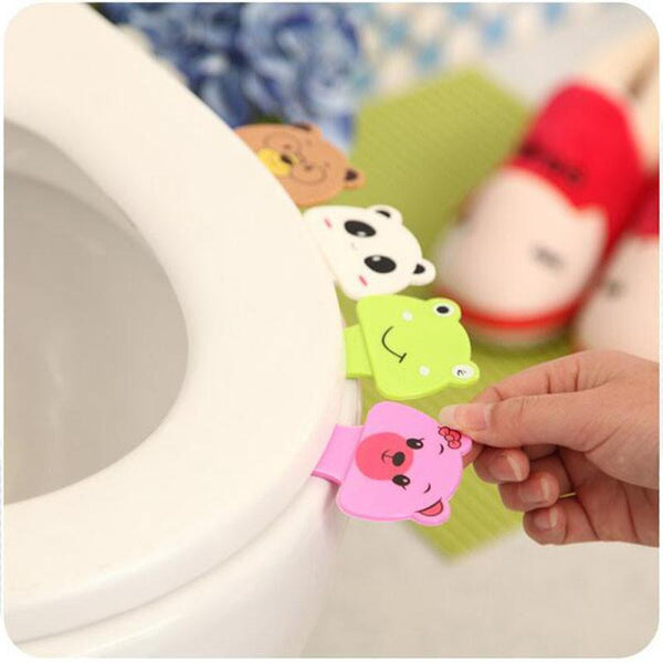 2017 Brand Cute Cartoon Toilet Cover Lifting Device Toilet Lid Portable Handle Bathroom Toilet Seat Accessories XHH05317