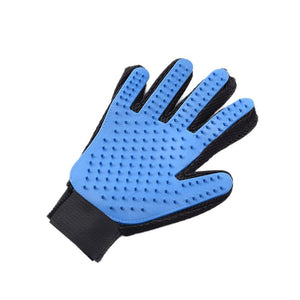2017 1pcs Blue Silicone Five Fingers Gloves Pet Hair Removal Gloves Deshedding Tool Pet Care Tool for Pet Dog Cat