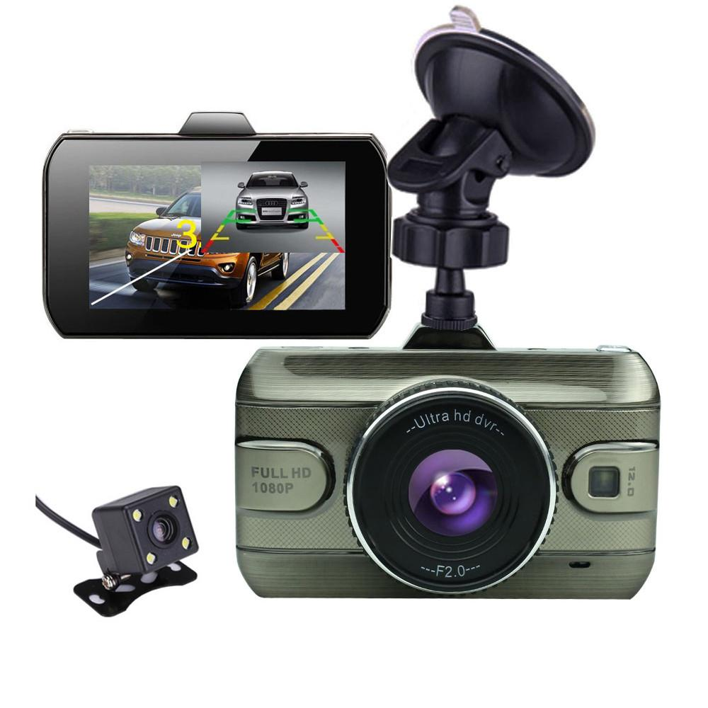 2017 3.0 inch Dual Lens Car Dvrs Full HD 1080P Car Dvr Video Recorder Car Camera Dash Cam Support Rear View Backup Camera