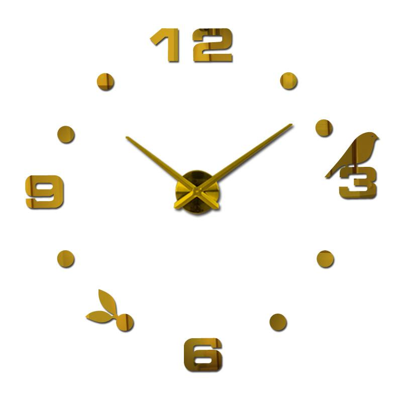 2017 quartz quiet wall clock interesting 3d diy home decor clocks roman numeral art stickers single