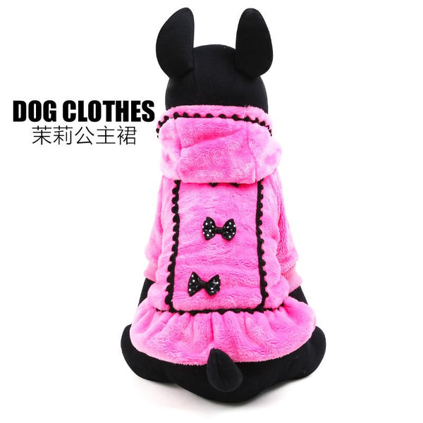 2017Graceful Pet Dog Clothes Winter Size Xxs-l Small And Large Dog Clothing Plushdog Coats For Chihuahua